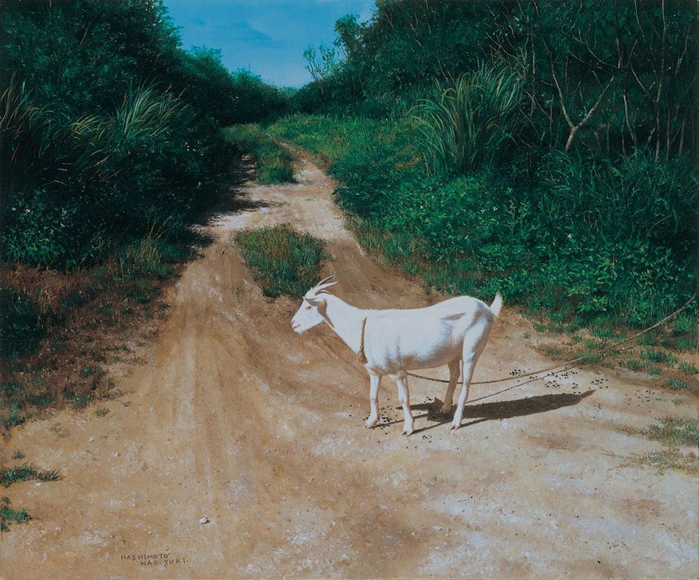 新潟県長岡の画家|橋本直行|繋がれた山羊