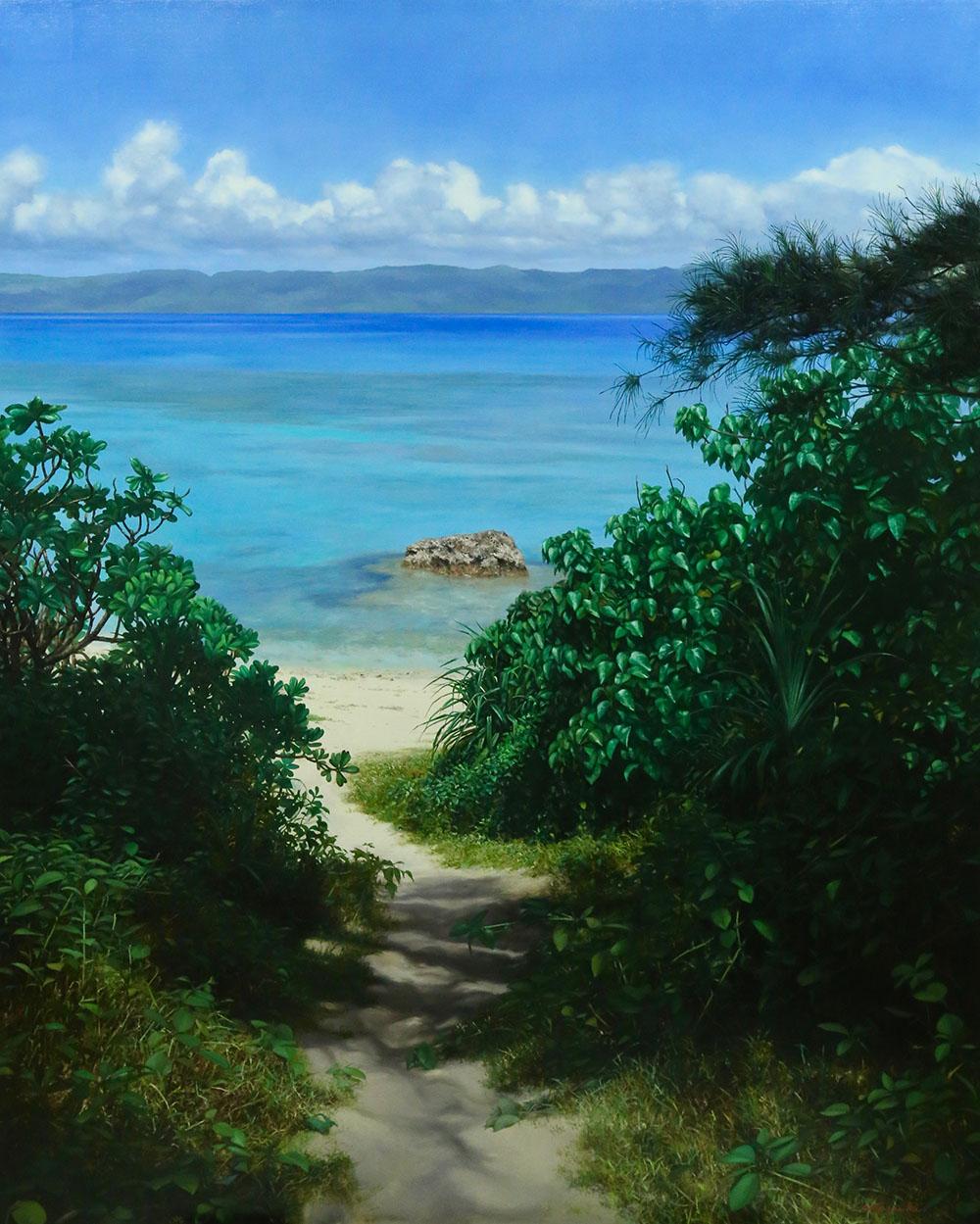 新潟の画家|橋本直行|海への径